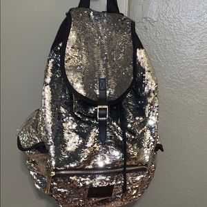 PINK Sequin Draw string/Buckle Back Pack